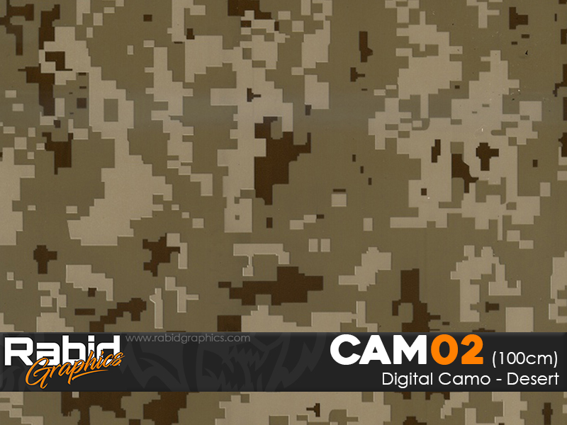 Digital Camo - Desert (100cm)
