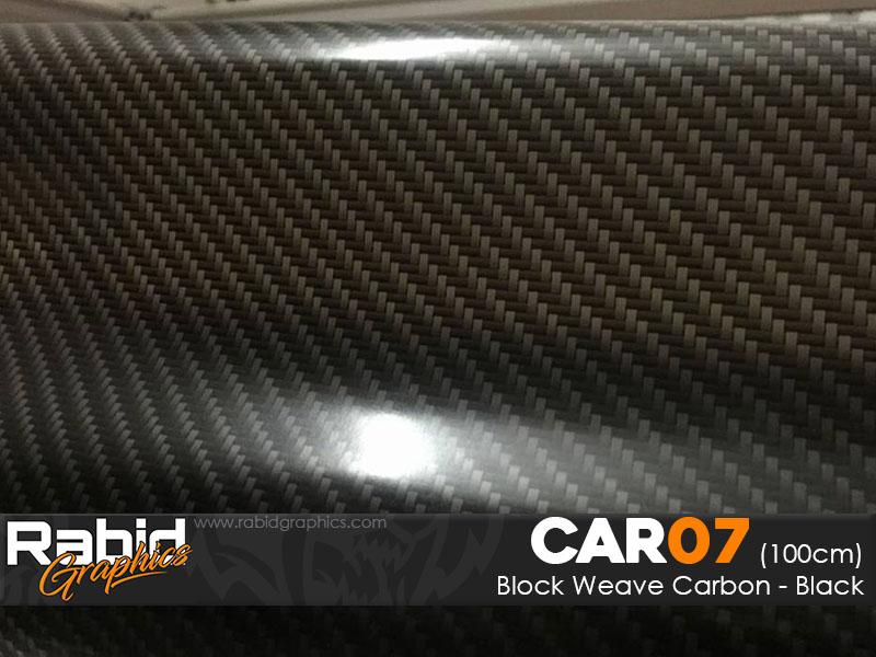 Block Weave Carbon - Black (100cm)