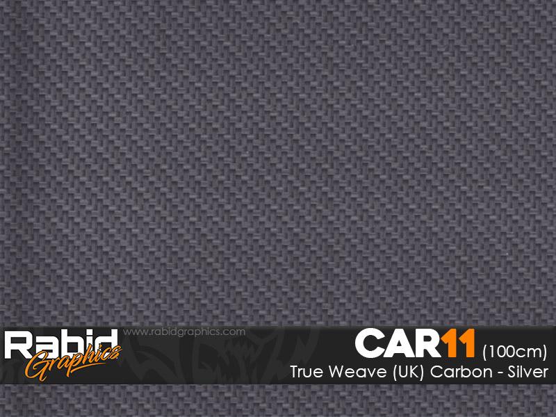 True Weave (UK) Carbon - Silver (100cm)