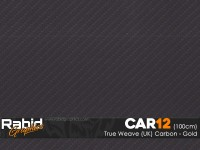 True Weave (UK) Carbon - Gold (100cm)