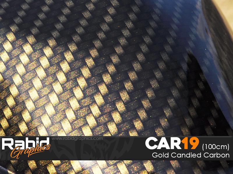 Gold Candied Carbon (100cm)