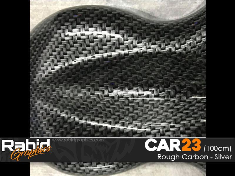 Rough Carbon - Silver (100cm)