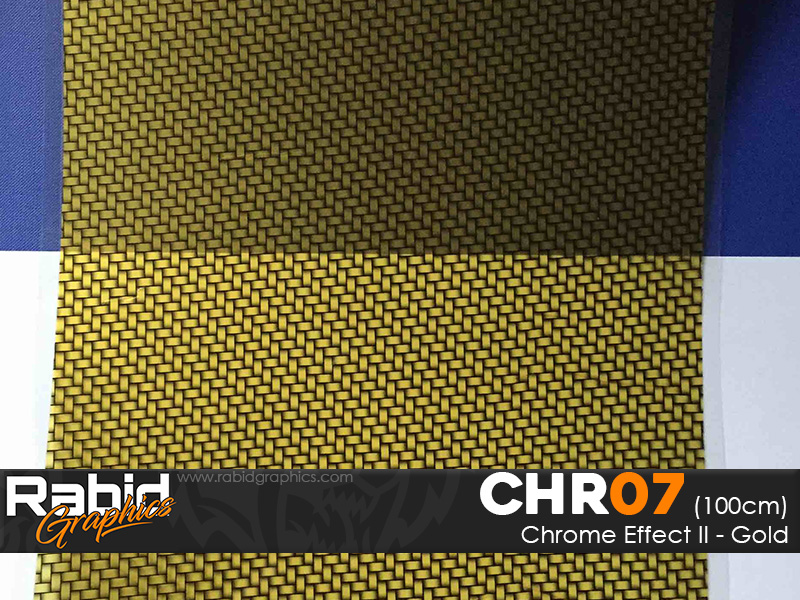 Chrome Effect II - Gold (100cm)