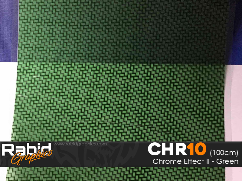 Chrome Effect II - Green (100cm)