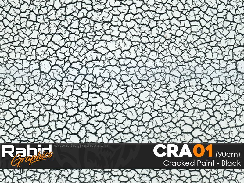 Cracked Paint - Black (90cm)