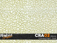 Cracked Paint - Gold (90cm)