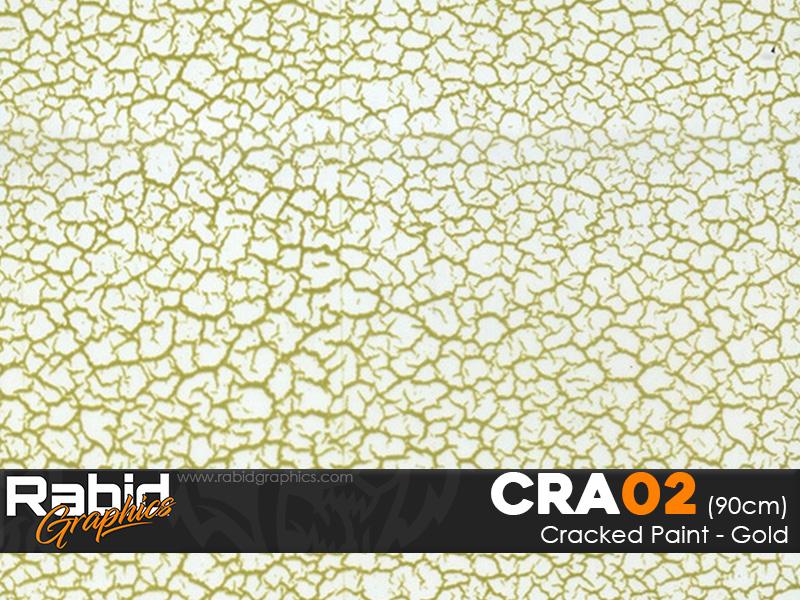 Cracked Paint - Gold (90cm)