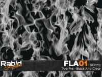 True Fire - Black & Clear (100cm)