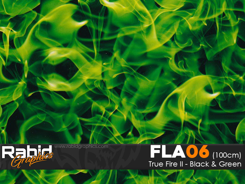 True Fire II - Black & Green (100cm)