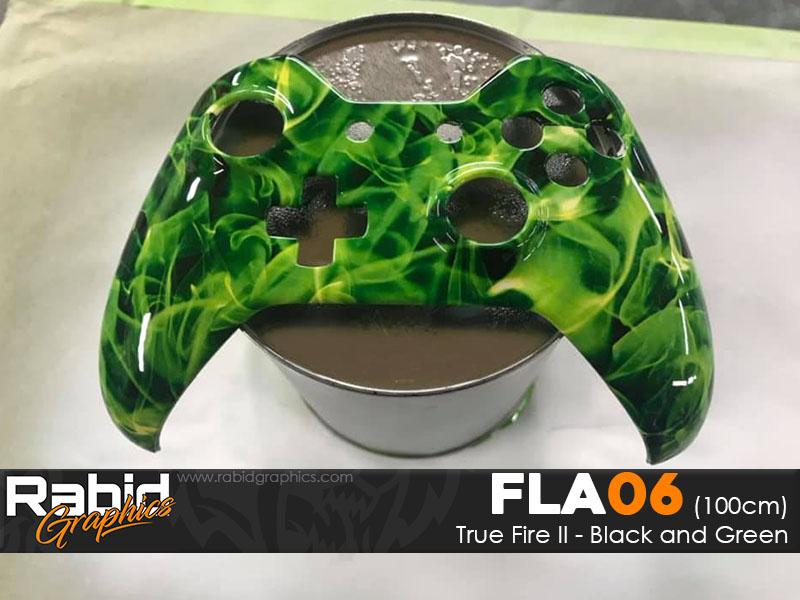 True Fire II - Black & Green (100cm)