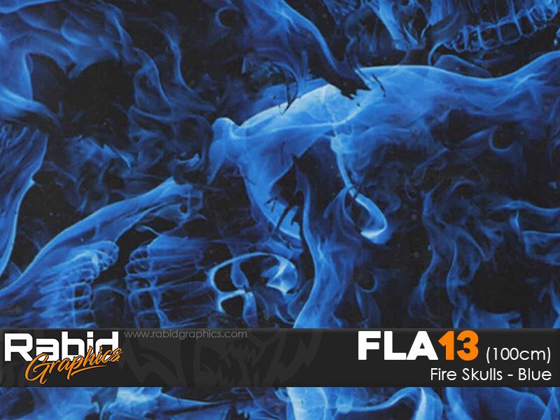 Fire Skulls - Blue (100cm)