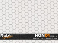 Honeycomb - Silver & Clear (90cm)