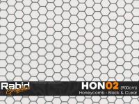 Honeycomb - Black & Clear (90cm)