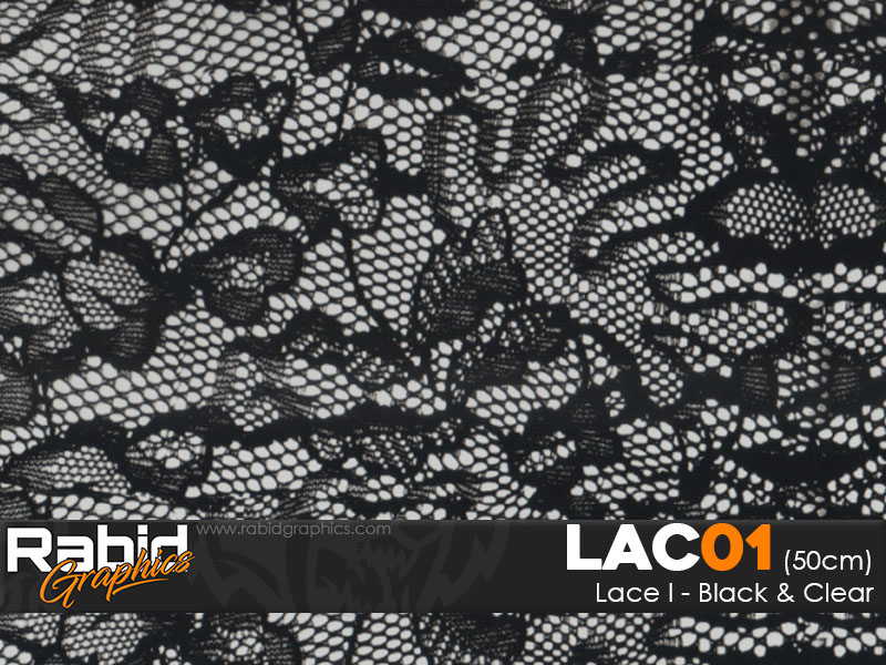 Lace I - Black and Clear (50cm)