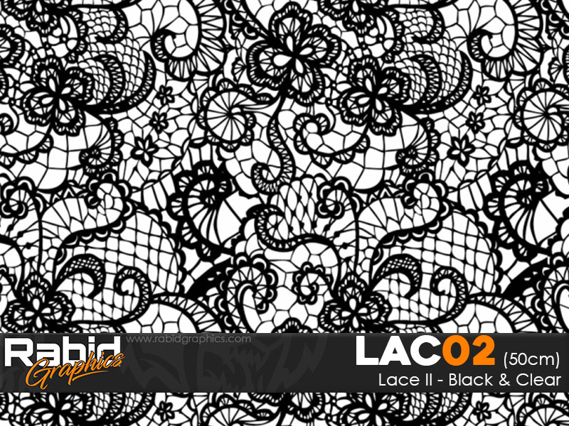 Lace II - Black and Clear (50cm)