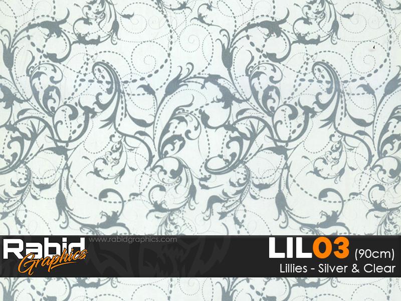 Lillies - Silver & Clear (90cm)