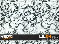 Lillies - Black & Clear (90cm)