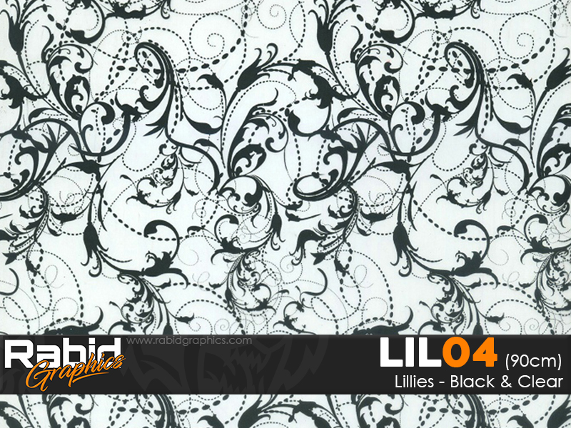 Lillies - Black & Clear (90cm)