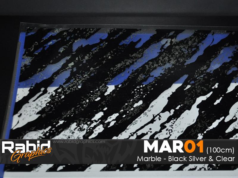 Marble - Black, Clear & Silver (100cm)