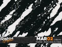 Marble - Black, Clear & Grey (100cm)