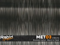 Brushed Metal - Black & Clear (100cm)