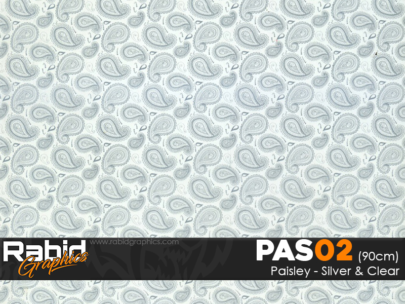 Paisley - Silver & Clear (90cm)