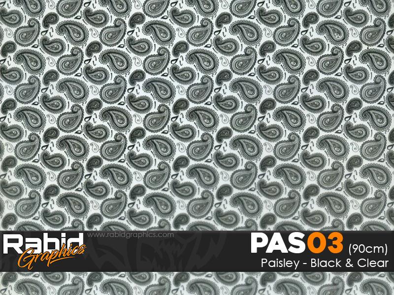 Paisley - Black & Clear (90cm)