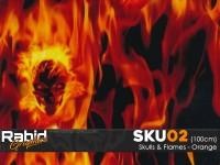 Skulls & Flames - Orange (100cm)