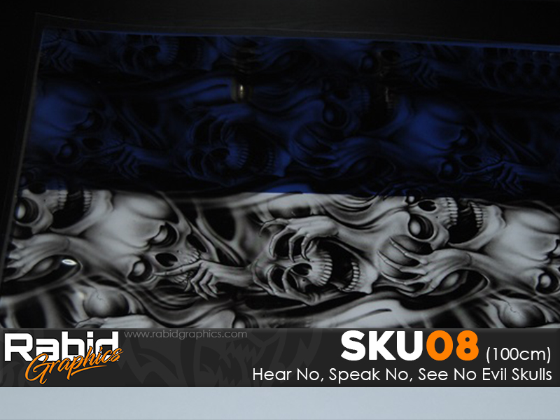 Hear No, Speak No, See No Evil Skulls (100cm)