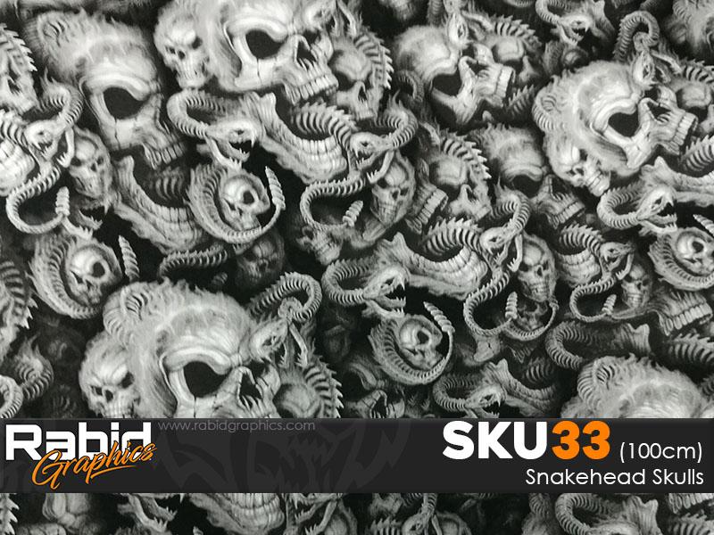 Snakehead Skulls Hydrographics Film (100cm)
