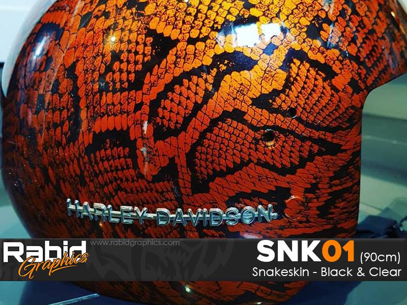Snakeskin - Black & Clear (90cm)