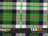 Tartan - Black and Green (50cm)